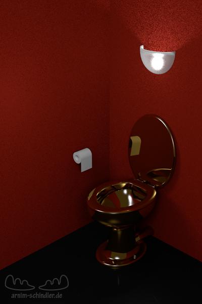 goldenes WC