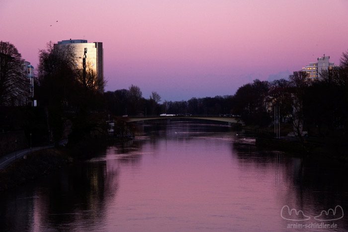 Donau in rosa Licht