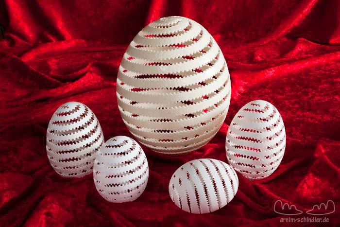 5 perforierte Eier