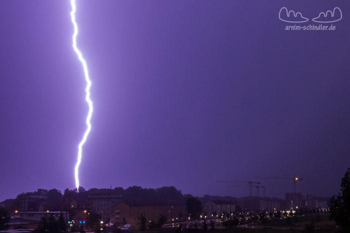 Blitz bei heftigem Gewitter