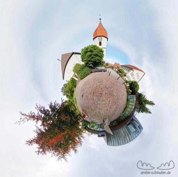 Little Planet Rathaus Fichtenau Vorplatz